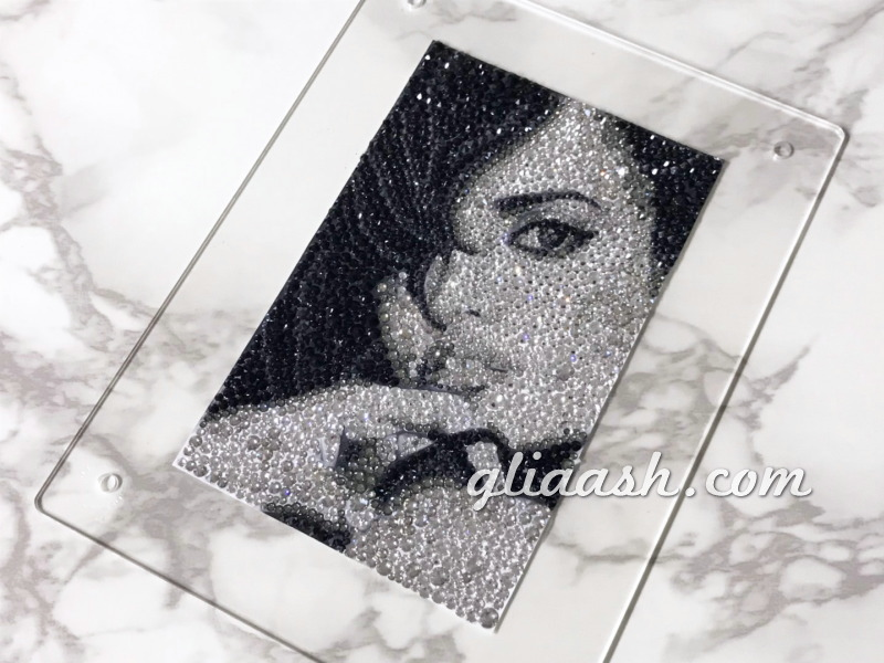 Penélope Cruz Swarovski decoration Photo Panel