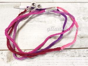 刺繍糸巻きデコヘッドフォン
