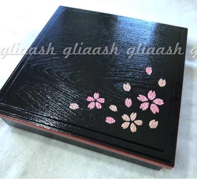 桜のデコ重箱