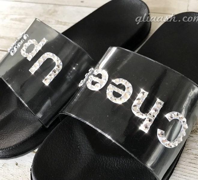 PVC decoration logo sandal