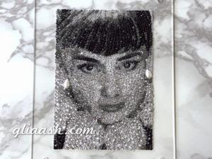 Audrey Hepburn crystalized photo