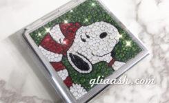 スヌーピーのキラキラデコミラー(クリスマス)