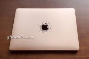 Mac Book airアップルマークデコ