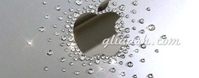 Mac Book Airのキラキラアップルマークデコ